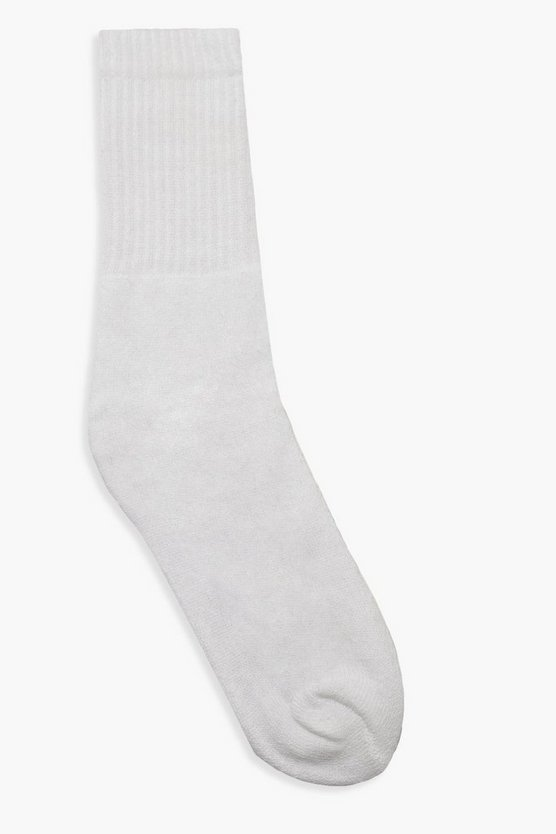 Plain Ribbed Sport Socks