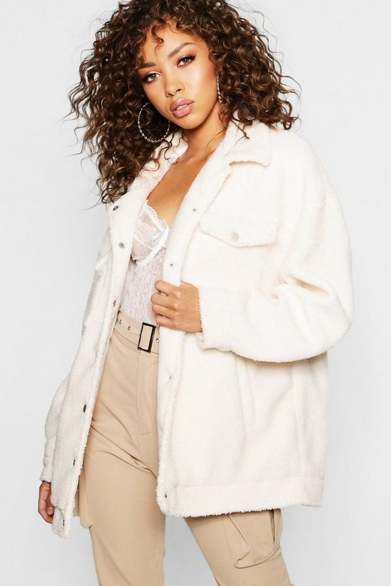 Teddy Faux Fur Trucker Jacket