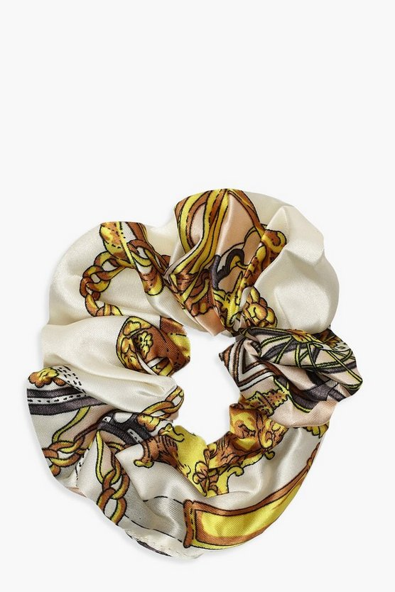 Chain Print Scrunchie