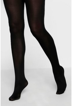 Womens Black 60 Denier 2 Pack Microfibre Tights
