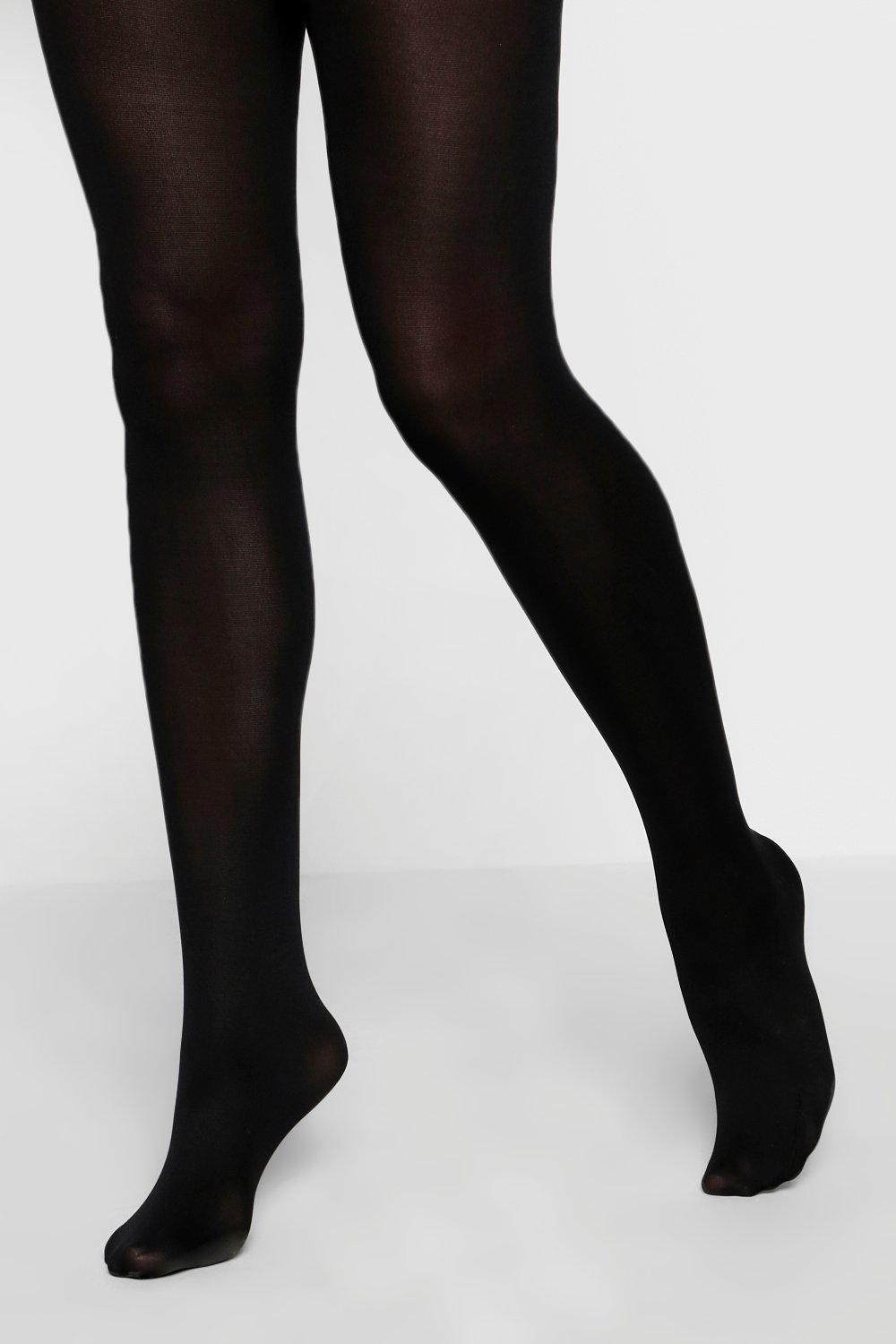 169b81a3ed177 Womens Black 40 Denier 2 Pack Microfibre Tights. Hover to zoom