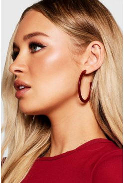 Womens Berry Oversized Hoops