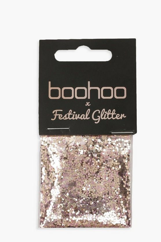 Womens Gold Boohoo Gold And Rose Glitter Bag