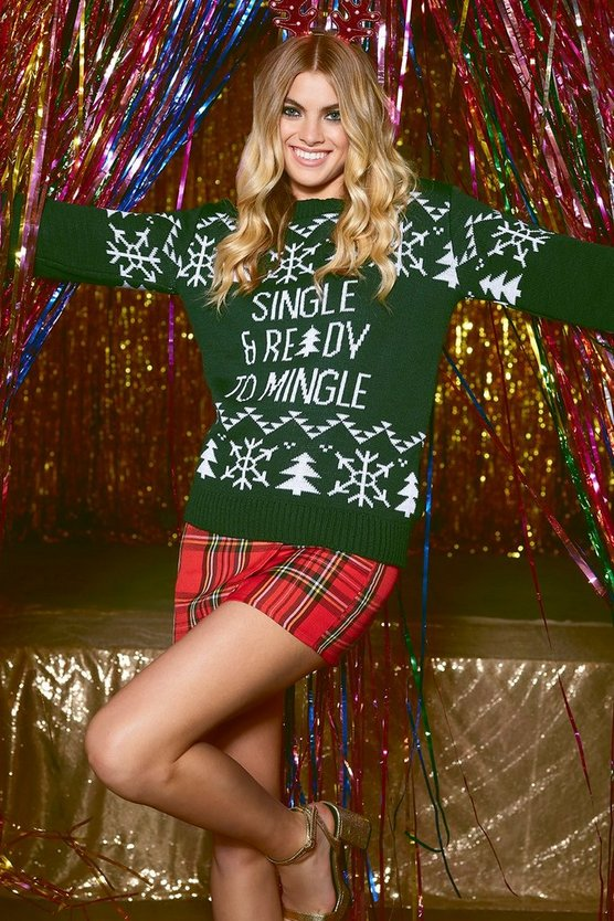 Single Ready To Mingle Christmas Jumper