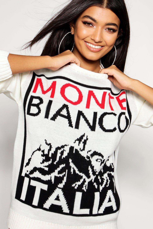 Christmas Monte black Bianco Bianco Jumper Monte Christmas black Jumper YT6Pzqw