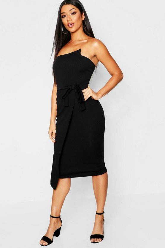 Bandeau Wrap Midi Dress