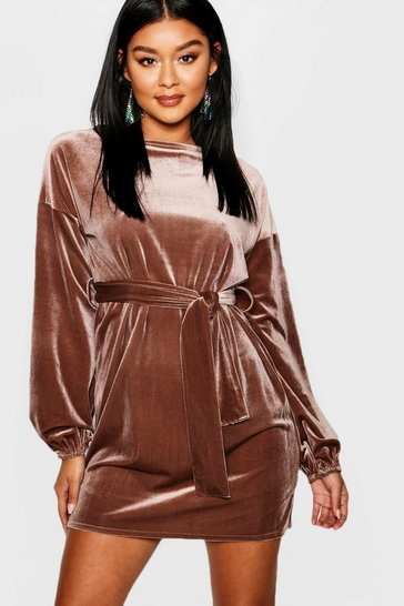 Cute Velveteen Dress
