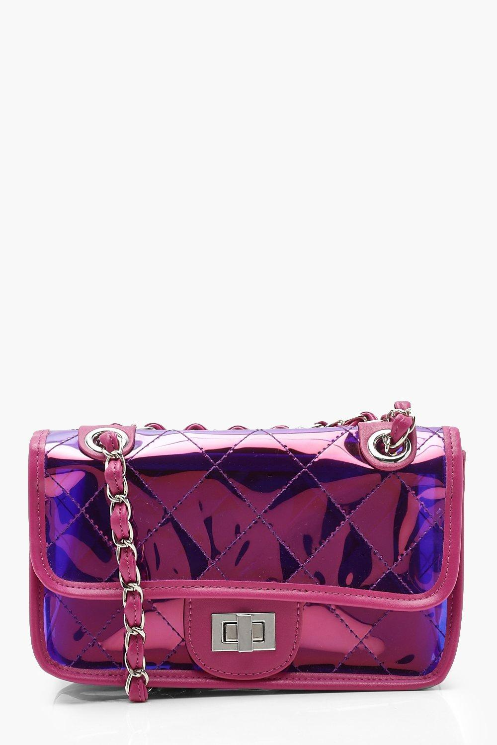 Pink Quilted Cross Body