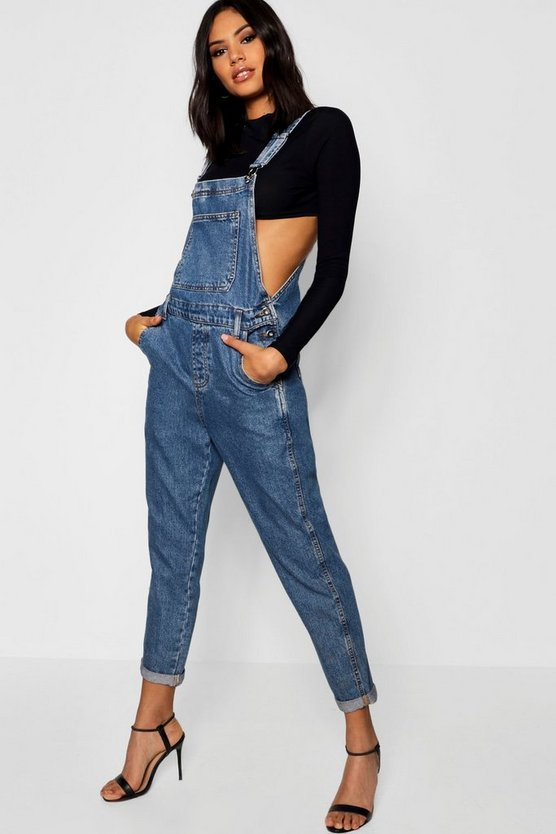 Mid blue Denim Overalls