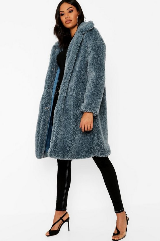Premium Oversized Teddy Faux Fur Coat