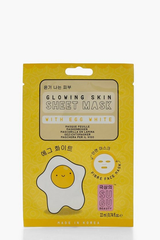 Womens Yellow SUGU Egg White Sheet Mask