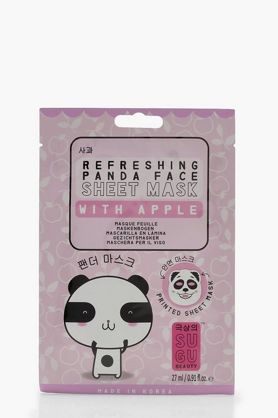 Womens Purple SUGU Printed Panda Sheet Mask