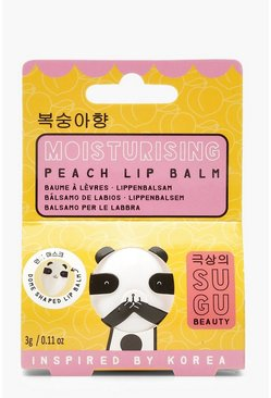 Womens Yellow SUGU Peach Lip Balm