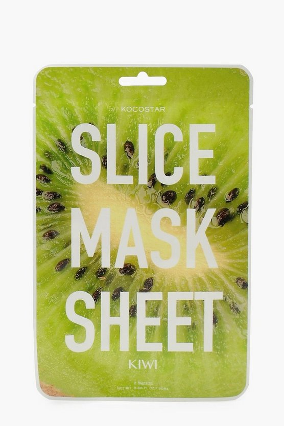 Womens Green Kiwi Radiant & Glossy Skin Face Mask