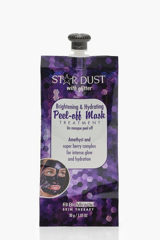 Womens Silver Brightening Glitter Peel Off Mask