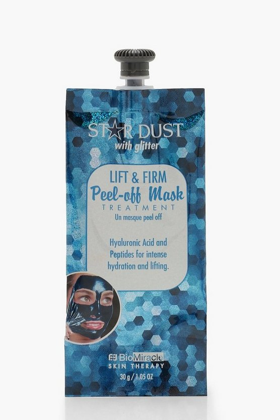 Womens Blue Lift & Firm Glitter Peel Off Face Mask
