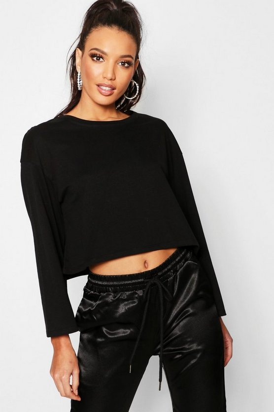 Oversized Drop Arm Long Sleeve Top
