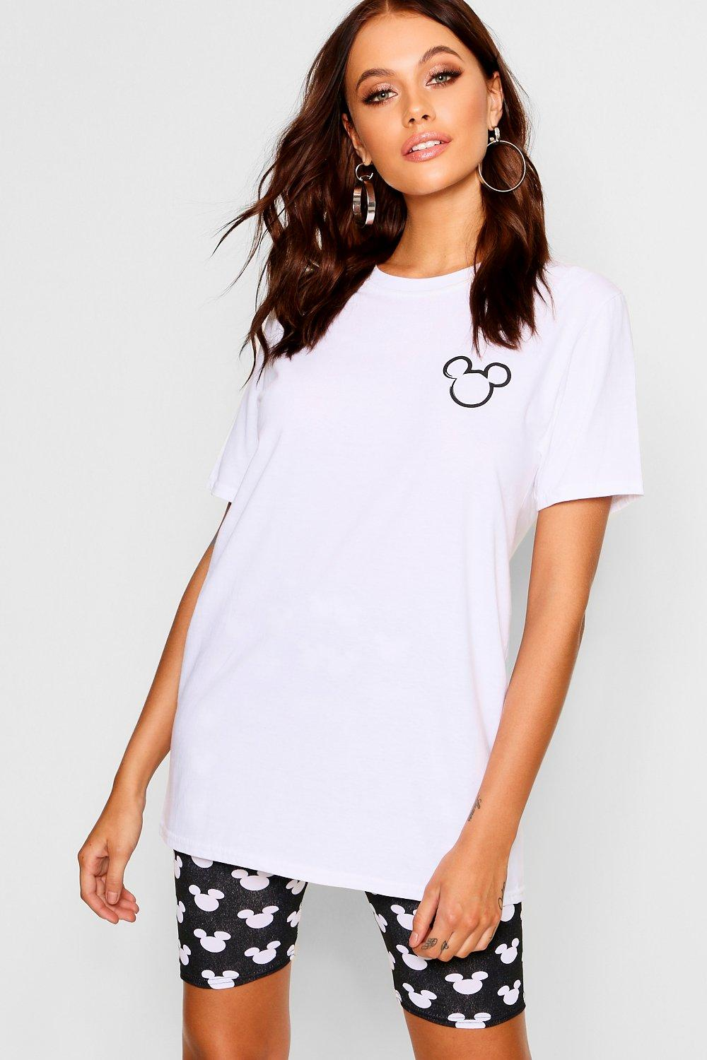 Pocket Shirt Disney T Placement white Mickey dTw874