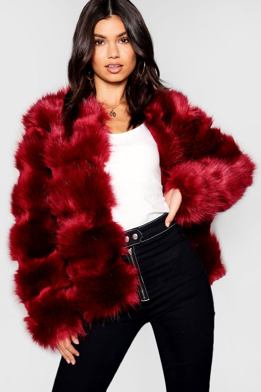 ee27c9d5b2768 Boutique Panelled Faux Fur Coat. Hover to zoom