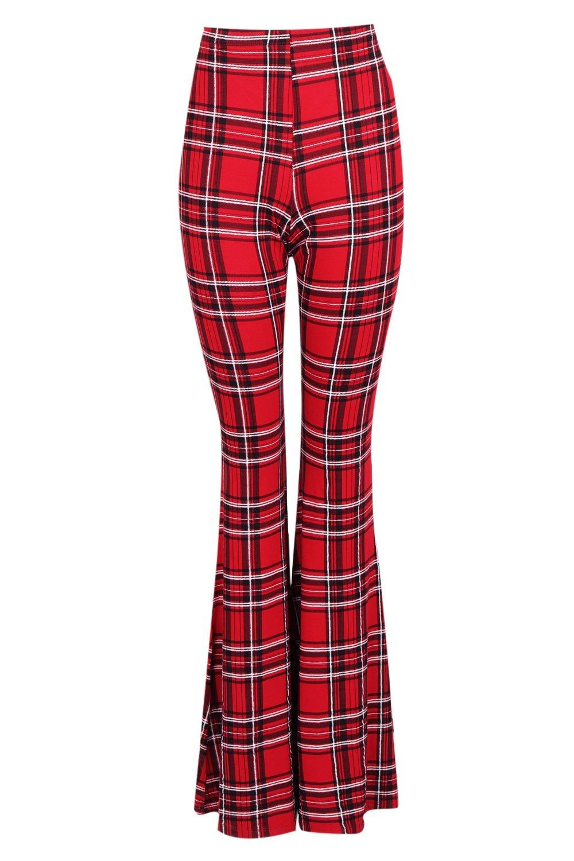 Tartan Tartan Trouser Tartan Flare red Trouser red Trouser Tartan red Flare Flare c0HA86T