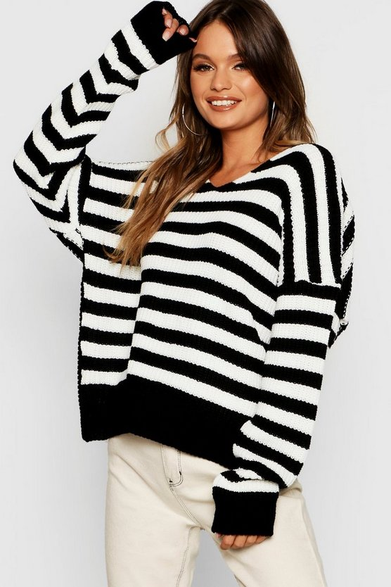 Stripe Twist Back Jumper