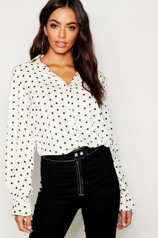 Satin Polka Dot Shirt