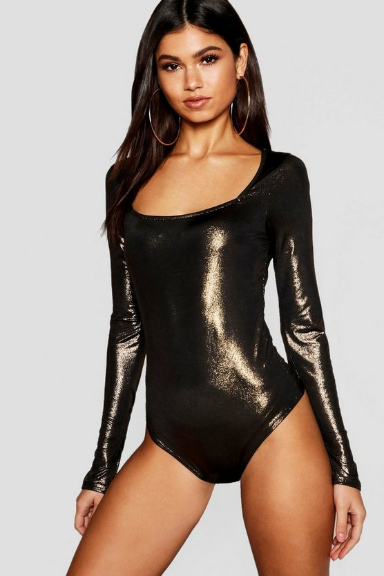 Shimmer Square Neck Bodysuit