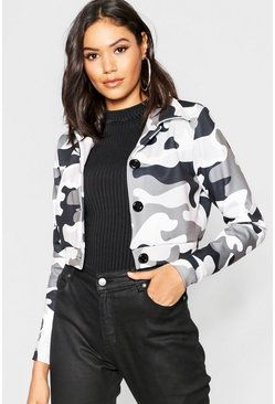 Womens Camo Trucker Jacket