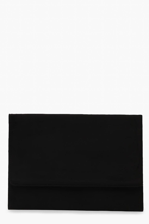 Oversized Suedette Envelope Clutch