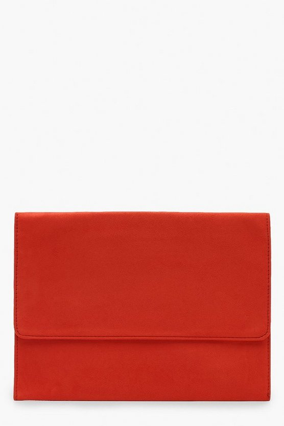 Oversized Suedette Envelope Clutch