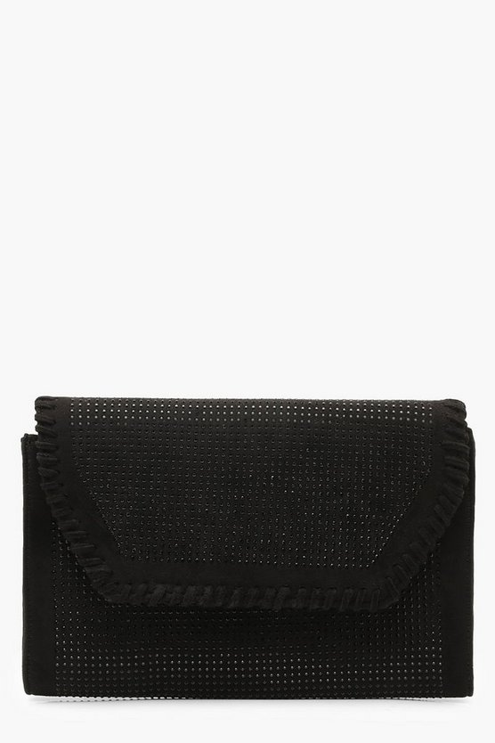 Rhinestone Envelope Clutch & Chain