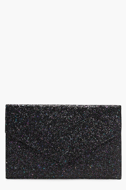 Mixed Glitter Envelope Clutch