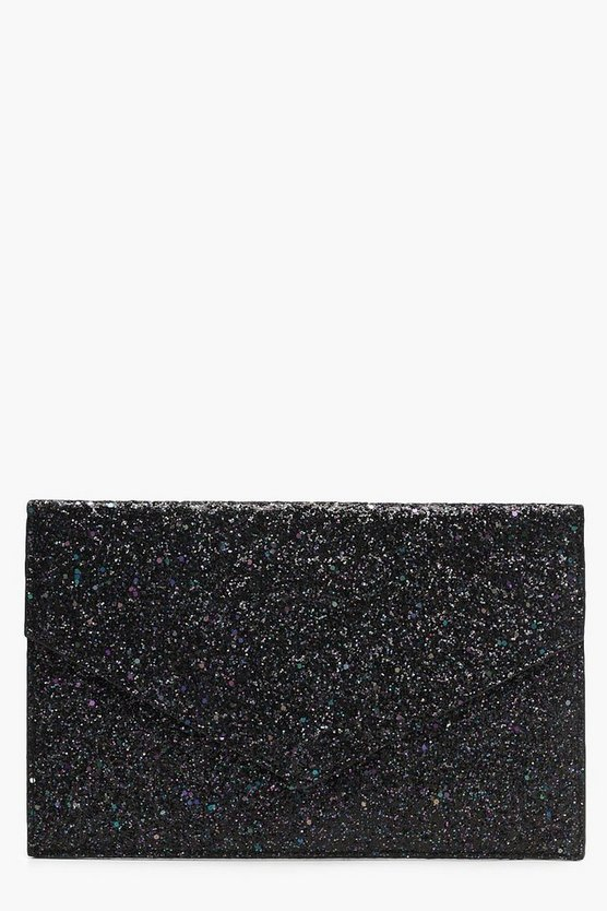 Mixed Glitter Envelope Clutch