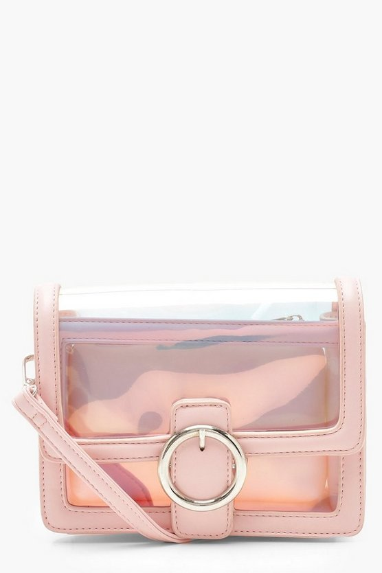 Round Ring Clear Cross Body With Inner Bag