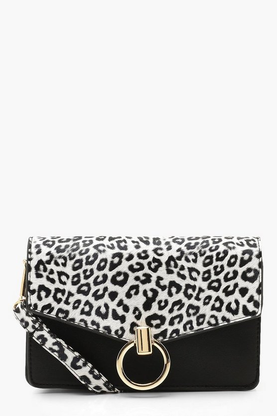 Colour Pop Leopard Circle Trim Cross Body