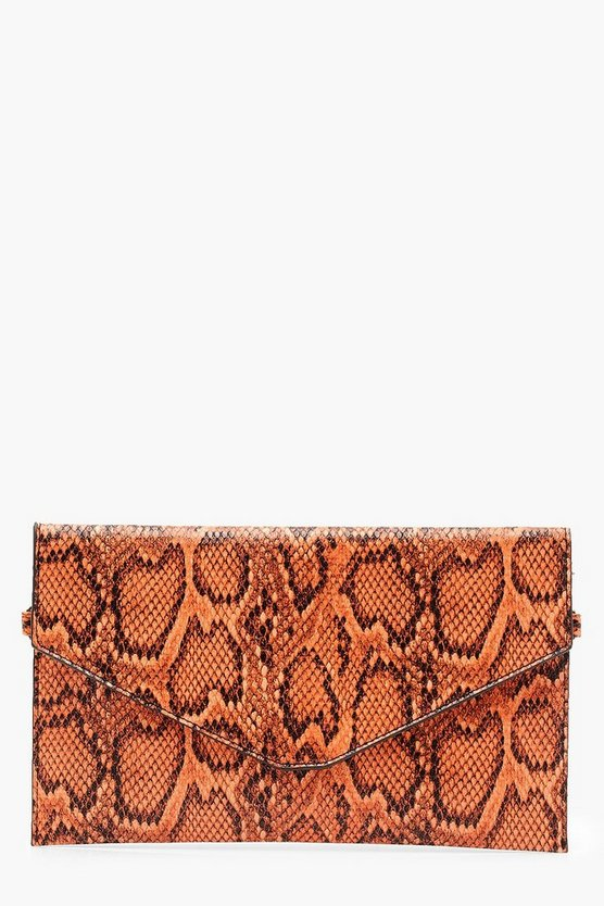All Over Snake Envelope Clutch