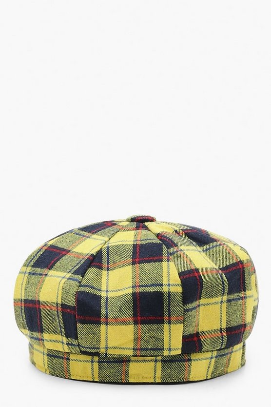 All Over Check Beret