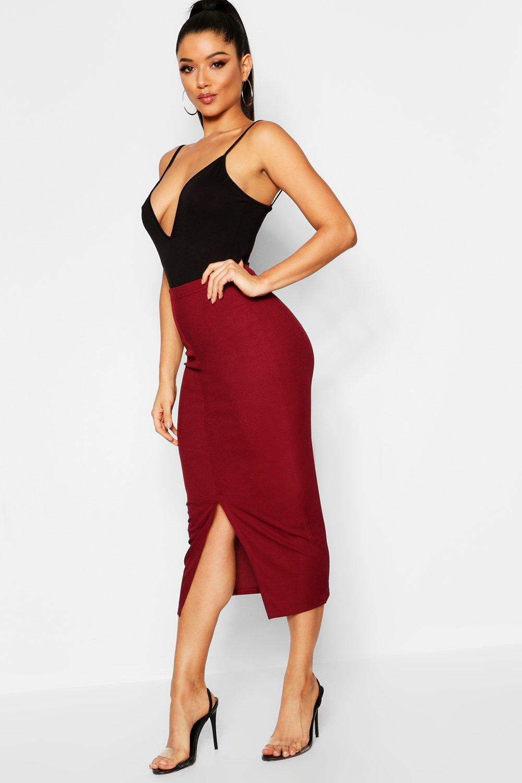 Ribbed Midaxi Skirt