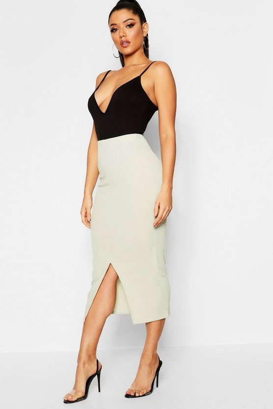 Ribbed Midaxi Skirt