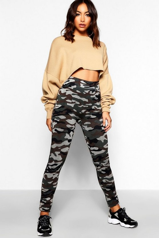 Camo Knitted Leggings