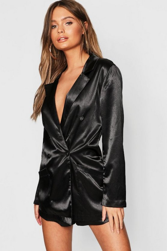 Satin Blazer Playsuit