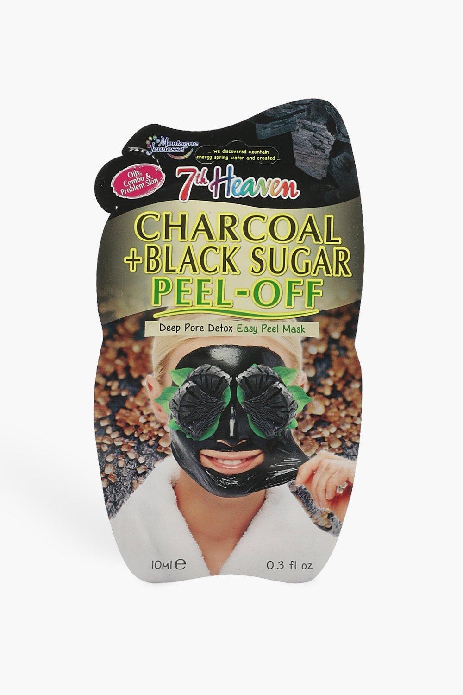 Image of Maschera esfoliante al carbone e allo zucchero nero, Nero