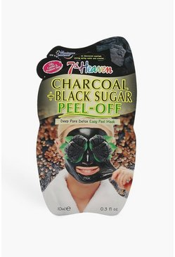 Womens Charcoal And Black Clay Peel Off Face Mask