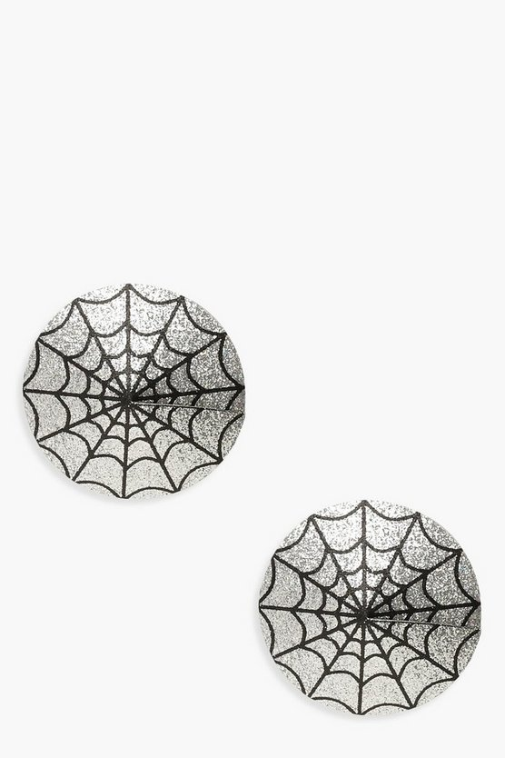 Halloween Spinnennetz Nippel-Patches