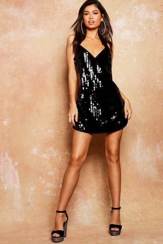 Sequin Cami Slip Dress