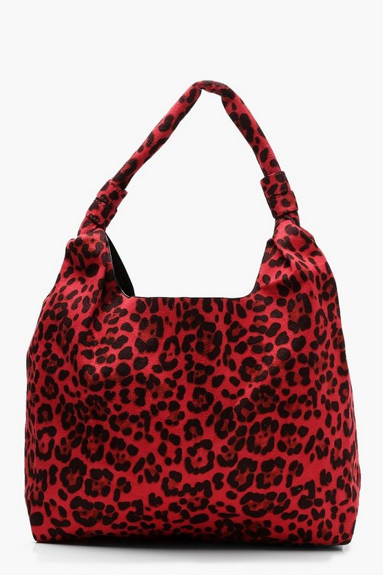 All Over Leopard Slouch Hobo Bag