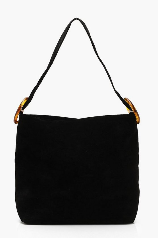 Suedette Resin Strap Daybag