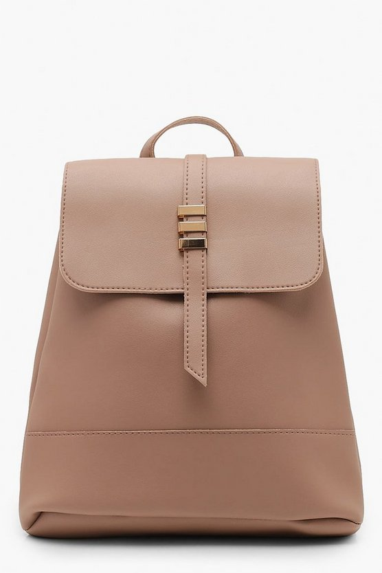 Bar Detail Flap Rucksack