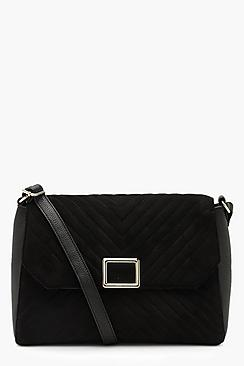 Quilted Square Buckle Cross Body