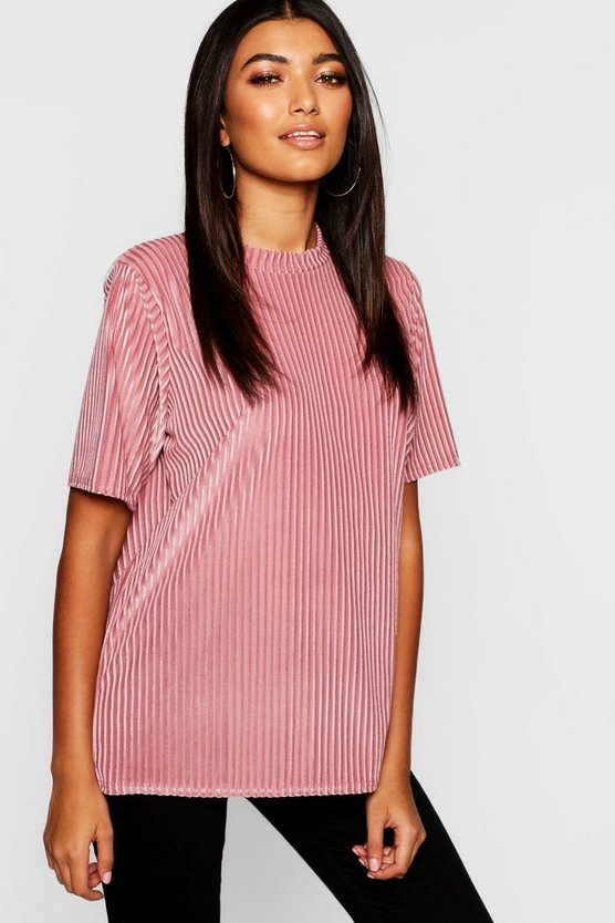 Burnout Rib Oversized T-Shirt